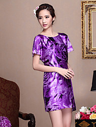Women's Dresses , Silk Casual Meidishi