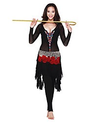 Dancewear Crystal Cotton with Gems Belly Dance Outfits For Ladies More Colors