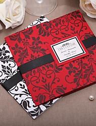 Personalized Classic Decorative Design Invitation With Black Ribbon-Set Of 50/20