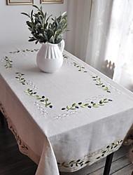 Classic lino bianco Olive Branch tovaglie