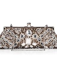 Unique Satin with Acrylic Crystals Evening Handbag/Clutches(More Colors)