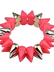 rangée lureme®double rivets de plastique fluorescent bracelet (couleurs assorties)