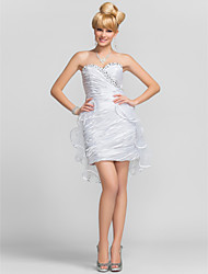 TS Couture Cocktail Party Graduation Dress - Short Sheath / Column Strapless Sweetheart Short / Mini Tulle Charmeuse withBeading Criss