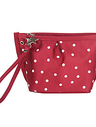 3 Colors White Dots Pattern Portable Cosmetic Makeup Pouch Hand Carrying Case Bag