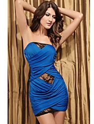 clube bandeau vestido de renda das mulheres (comprimento: 68 centímetros de busto :86-102 centímetros da cintura :58-79 :90-quadril 104cm)