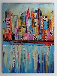 Oil Painting Abstract Building 1303-AB0336 Hand-Painted Canvas