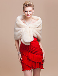 Fur Wraps / Wedding  Wraps Shrugs Faux Fur Ivory Wedding / Party/Evening Yes