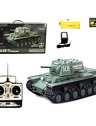 1:16 RC Tank Radio soviéticos KV-1 Tanques Blindados de control remoto adicionales Tanques de humo Sonido Juguetes