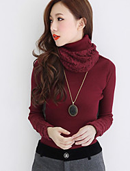 Women's Lace Polo Neck Sweater