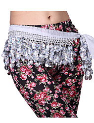 Performance Dancewear Chiffon with Shell Design Coins Belly Dance Belt For Ladies(More Colors)