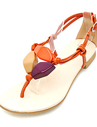 Leatherette Flat Heel Sandals With Buckle Party/Evening Shoes (More Colors)