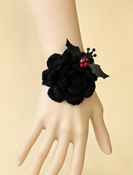 Women's Gothic Black Rose Bracelet