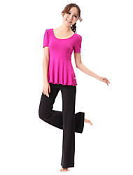 Dancewear Comfortable Cotton Yoga Dance Outfits Top and Bottom For Ladies More Colors