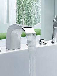 Contemporaines de style généralisées finition chromée Robinet de baignoire en acier inoxydable avec robinet portable
