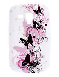 Patrón Butterfly TPU Funda para Samsung Galaxy Tendencia Duos S7562