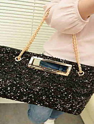 Vintage Sequins Evening Bag With Metal Chain(41*3*26cm)