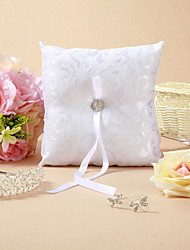 Elegant Floral Design Wedding Ring Pillow