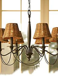 Max 60W Rustique Plaqué Lustre Salle de séjour / Chambre à coucher / Salle à manger / Bureau/Bureau de maison / Couloir