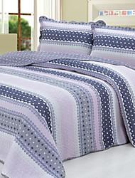3 peças geométricas tarja lavado algodão conjunto quilt