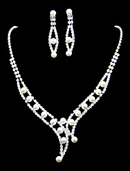 Women's Alloy/Rhinestone/Imitation Pearl Jewelry Set