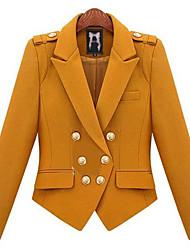 PINKLADY Double Breast Shoulder Pad Tweed Coat