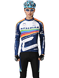 MYSENLAN Men's Cycling Suits Long Sleeve Bike Spring / AutumnThermal / Warm / Breathable / Quick Dry / Waterproof Zipper / Front Zipper /
