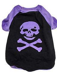 schrecklichen Schädel-Muster Baumwolle T-Shirt für Hunde (XS-L)