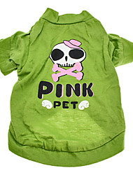 Schöne Skull Pattern Cotton T-Shirt für Hunde (XS-L)