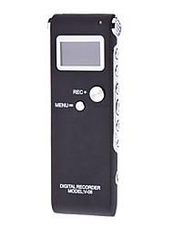 Grabador digital V-08 con pantalla LCD (2 GB, Negro)