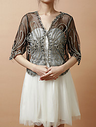 Party/Evening / Casual Tulle Coats/Jackets Half-Sleeve Wedding  Wraps