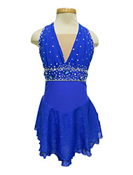 Dumb Light Spandex Elasticated Net Figure Skating Clothing Royal Blue
