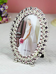 """6"""" Classic Wedding Crystal Picture Frame K04"""