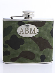 Personalized Green 5-oz Flask