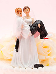 Decorações de Bolo Não-personalizado Engraçado e Relutante Resina Casamento / Aniversário Bolsa PVS