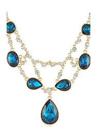 Damen Royal Blue Raindrops Edelsteine Halskette