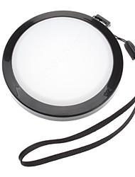 MENNON 72мм камеры Баланс белого крышка объектива Крышка с ручной ремешок (черный и белый)