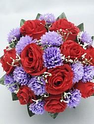 Beau satin Forme Ronde de mariée Bouquet