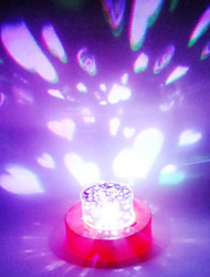 Duble Heart Design LED Lamp (Color Changing, Built-in Botton Cell)