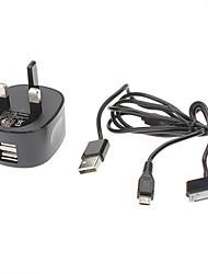 USB 2IN 2 Ladegerät mit zwei USB Power Port für iPad, Samsung, HTC und mehr