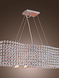 Stylish Crystal Chandelier with 3 lights (Electrochromism Finish)