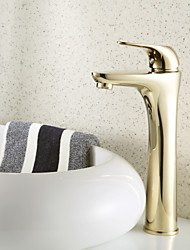 Antique Style Centerset Brass Bathroom Sink Faucets (Ti-PVD Finish)