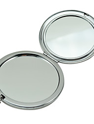 Diamond Round Potable Comestic Two Side Makeup Compact Mirror Case