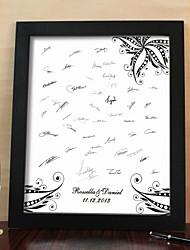 personnalisé signature châssis de toile - fleur noire (y compris châssis)
