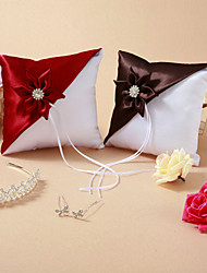 Wedding Ring Pillow With Flower (More Colors)