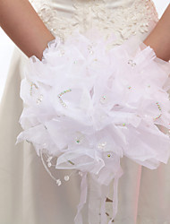 Elegant Round Wedding Bouquet/ Bridal Bouquet With Ribbons With Rhinestone(More Colors)