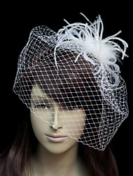 Beautiful Flannelette With Net/Tulle Women's Wedding Fascinators
