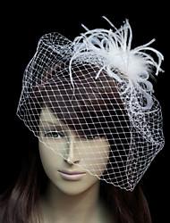 Women's Tulle Flannelette Net Headpiece-Wedding Special Occasion Fascinators
