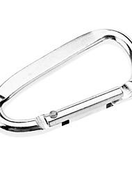 """Маленький алюминиевый карабин в форме D (""""под серебро"""")"""