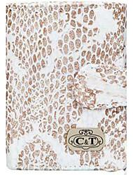 Carteira C & T Moda feminina serpente impressão