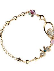 Oro 18 carati placcato abbastanza con i braccialetti di moda di strass donna